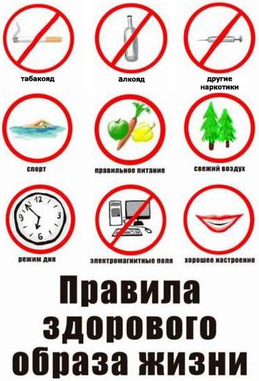 правила ЗОЖ